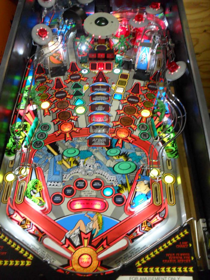 Attack from Mars Pinball with NEW Display, NEW Legs, LED